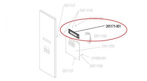 Herrmidifier Herrtronic Part #265171-001<br>Humidifier Liquid Crystal Display Board