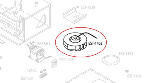 Herrmidifier Herrtronic Part #EST-1402<br>Humidifier Blower, Motorized Impeller