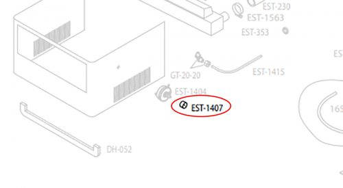 Herrmidifier Herrtronic Part #EST-1407<br>Humidifier Knob, Aluminum