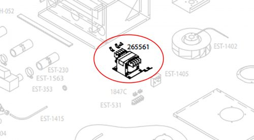 Herrmidifier Herrtronic Part #265561-001<br>Humidifier RDU Transformer Kit (480/600 Volts),<br>Formerly Part #EST-1406