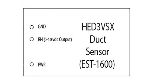 Herrmidifier Humidity Transmitter Part #EST-1600<br>Duct Mount Veris, 0-10 VDC<br>(0-100% RH)