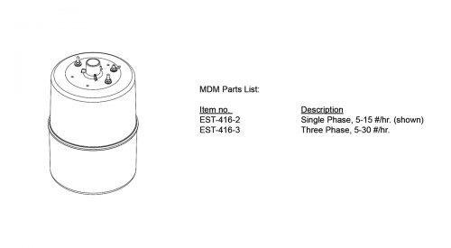 Herrmidifier Herrtronic #EST-416-2<br>Humidifier Steam Cylinder