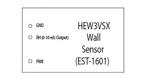 Herrmidifier Humidity Transmitter Part #EST-1601<br>Wall Mount Veris, 0-10 VDC<br>(0-100% RH)