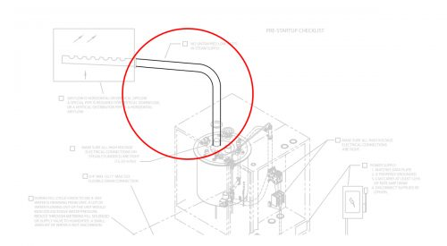 Herrmidifier Herrtronic Part #EST-171<br>1-1/2″ ID Humidifier Rubber Steam Vapor Hose
